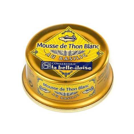 Conserverie La Belle Iloise - Mousse de thon blanc au basilic