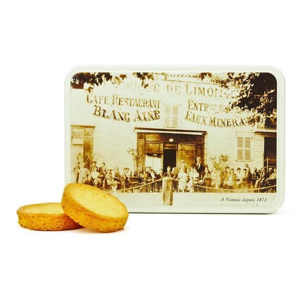 Palets de Bretagne au beurre en boite fer Georges Blanc