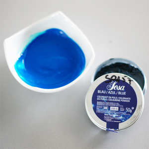 Sosa ingredients - Blue colouring powder