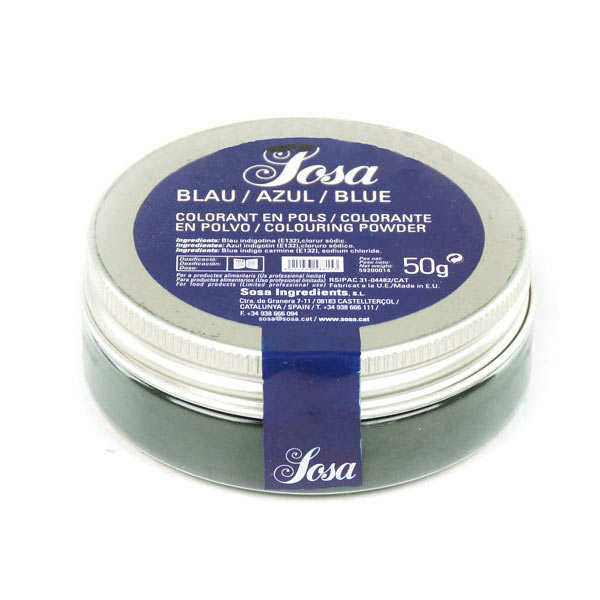 Blue colouring powder