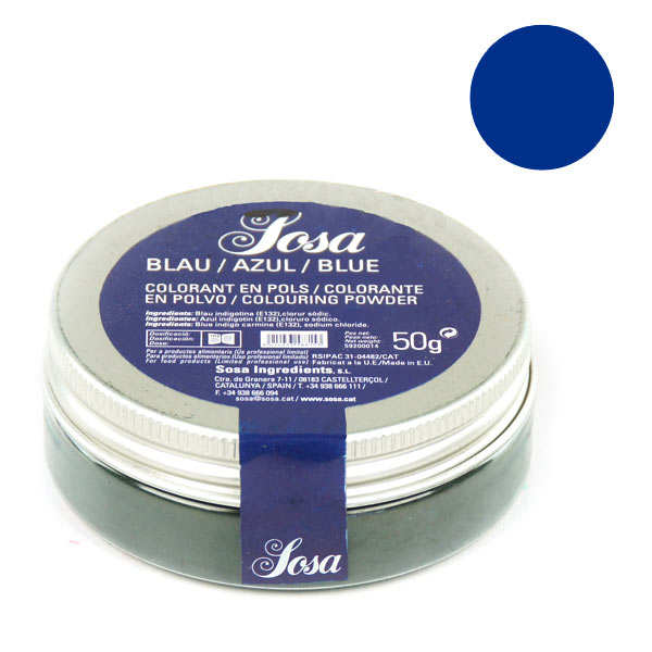 Blue colouring powder