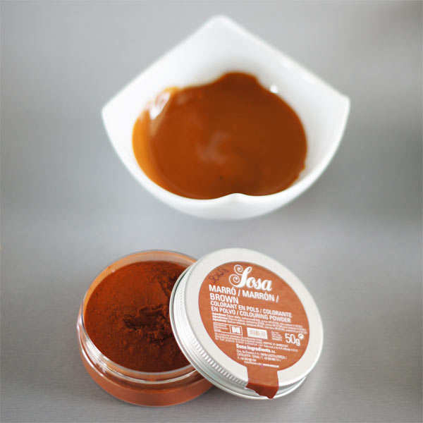 Brown colouring powder