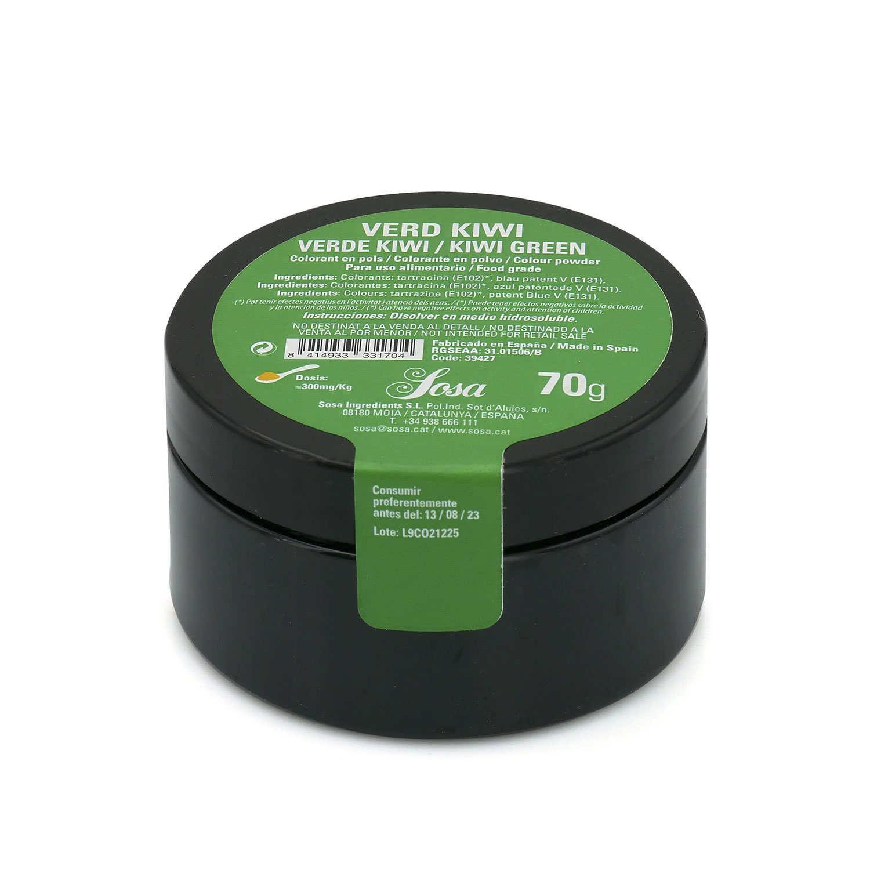 Colorant en poudre vert kiwi