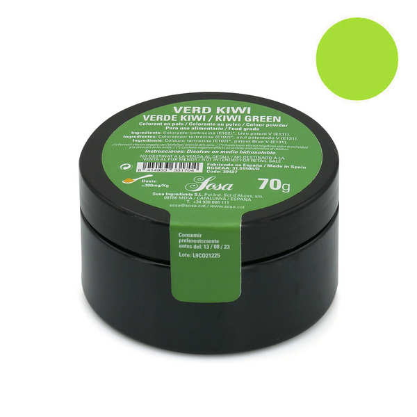 Kiwi green colouring powder