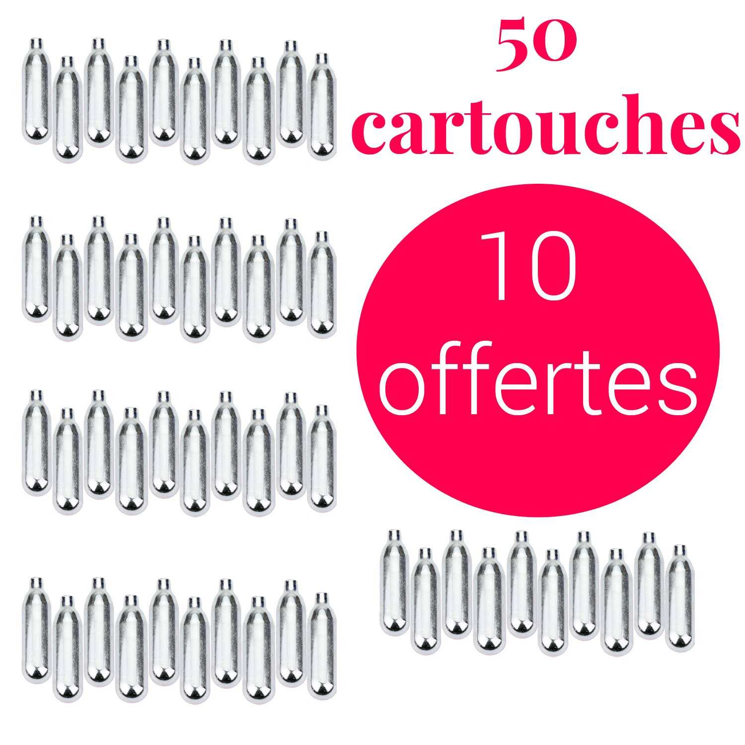 Chargers for sodas 40+10 free C02