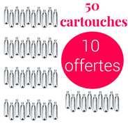 Mosa - 40 cartouches pour siphon + 10 offertes CO2 - Pour soda