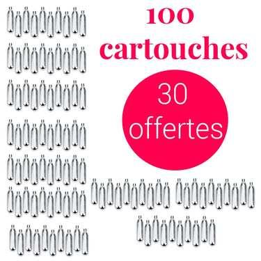 70 cartouches siphon + 30 offertes C02 - Pour soda et eau de seltz