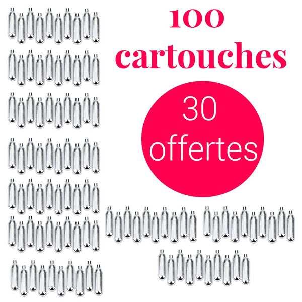 70 cartouches siphon + 30 offertes C02 - Pour soda