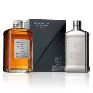 whisky nikka from the barrel coffret cadeau flasque m tal whisky nikka. Black Bedroom Furniture Sets. Home Design Ideas