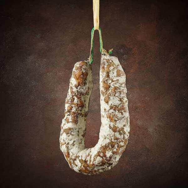 Dry sausage with cep mushrooms