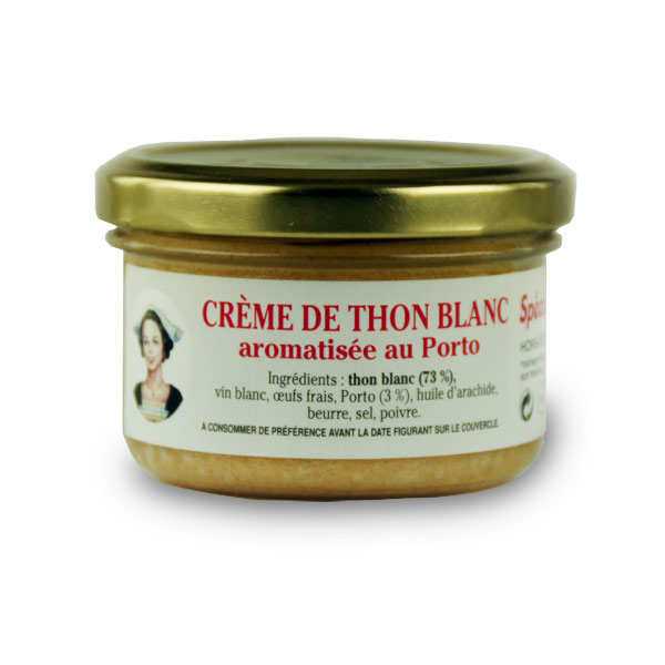 Crème de thon blanc aromatisée au porto - boîte 90g