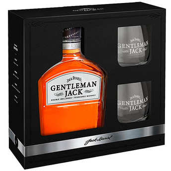 Jack Daniel's - Jack Daniel's Gentleman Jack coffret whisky 2 verres - 40%