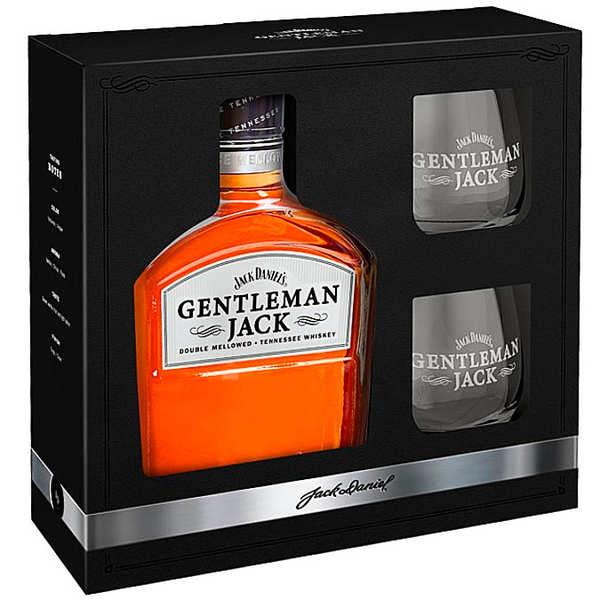 Jack Daniel's Gentleman Jack coffret whisky 2 verres - 40%