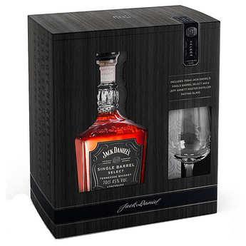 Jack Daniel's - Jack Daniel's Whisky single barrel gift box with 1 glass