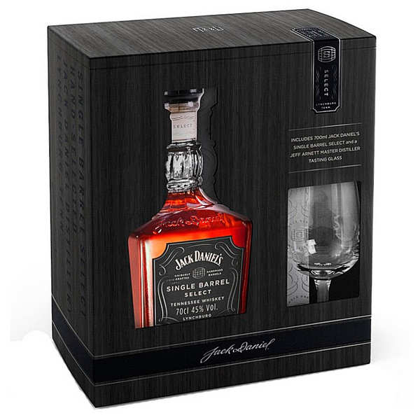 Jack Daniel's Whisky single barrel gift box with 1 glass