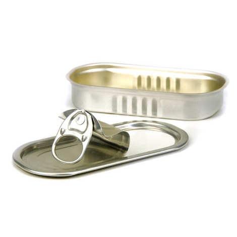 - Sardine tin presentation tins with rectangular lid