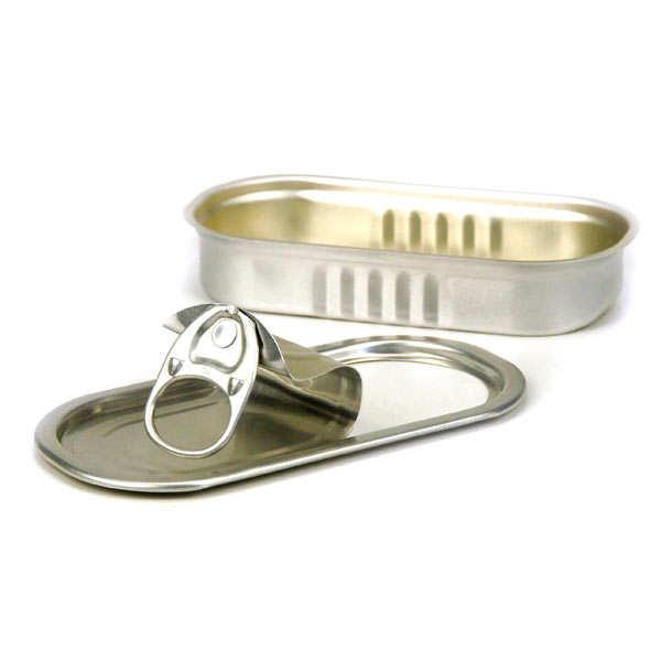 Boites de présentation couvercle rectangle - Boîte à sardines - 5cl