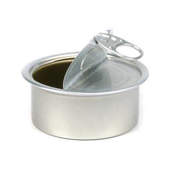 - Boites de conserve de présentation avec couvercle - ronde - 10 cl