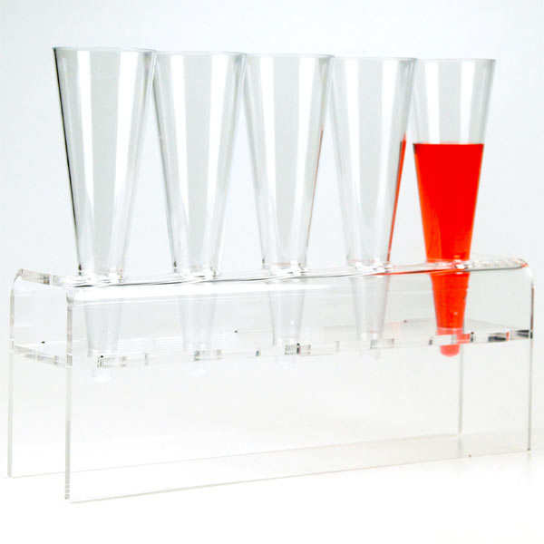 Presentation rack for cones & pipettes with 5 holders