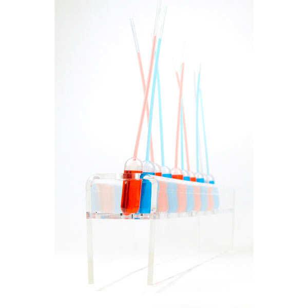 Présentoir pour cônes et pipettes - 5 perforations