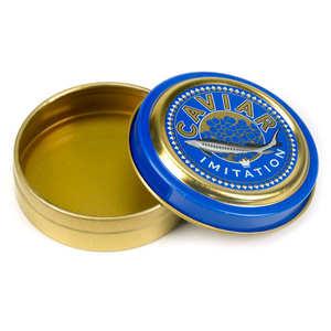 - Empty caviar tin for food presentation
