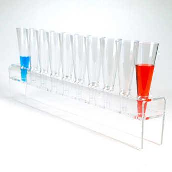 - Cône de présentation en plastique pour mise en bouche