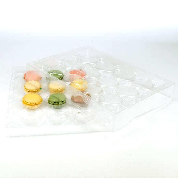 Coffret de présentation et transport pour 12 macarons