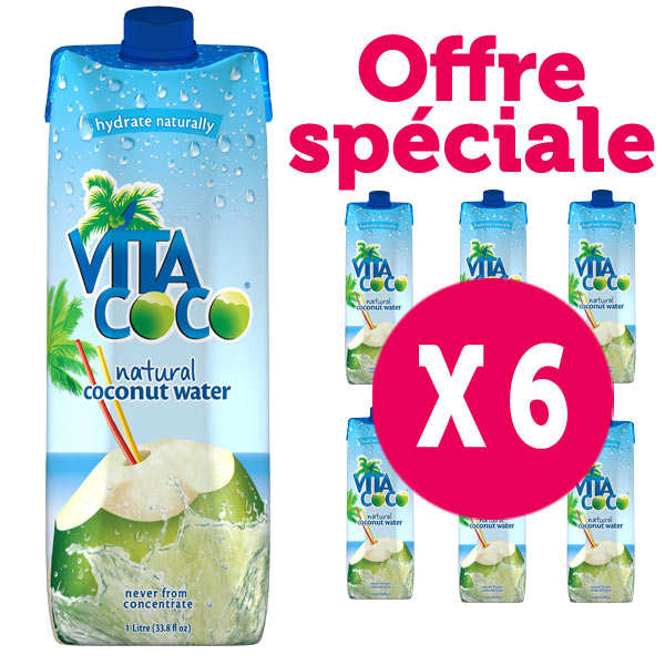 Vita Coco - 100% pure coconut water - 6 x 1l bottles