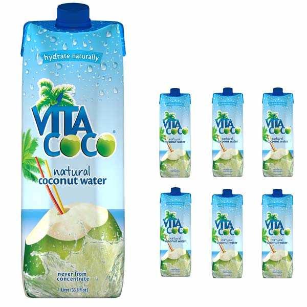 Vita Coco - 100% pure coconut water - 6 x 1l bottles