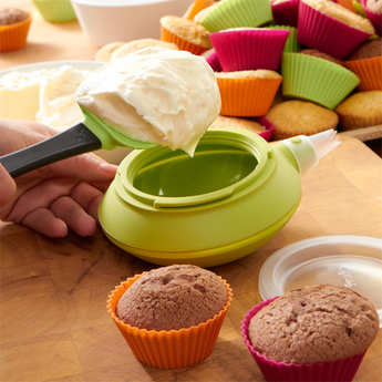 Lékué - Silicone cupcake kit (cases + Decomax decoration tool + recipes)