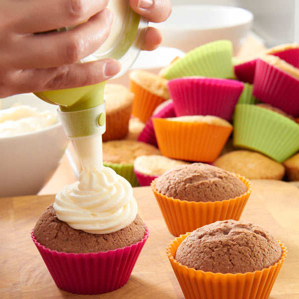 Kit cupcake silicone (caisettes+Decomax+recettes)