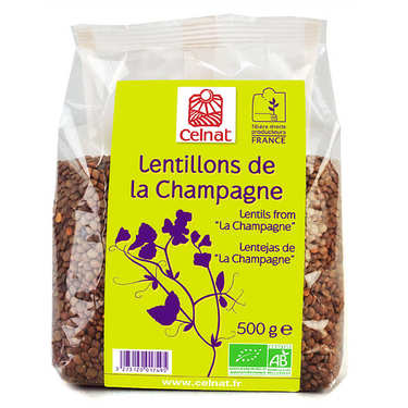 Organic lentils from the Champagne region