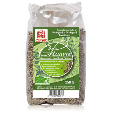 Organic hemp seeds bag