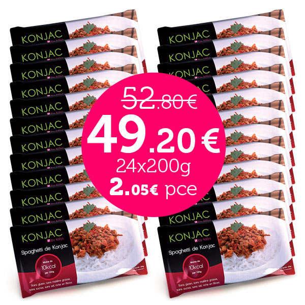 24 sachets de Shirataki en promo - Konjac en vermicelles