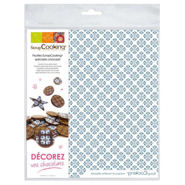 Edible chocolate decoration paper