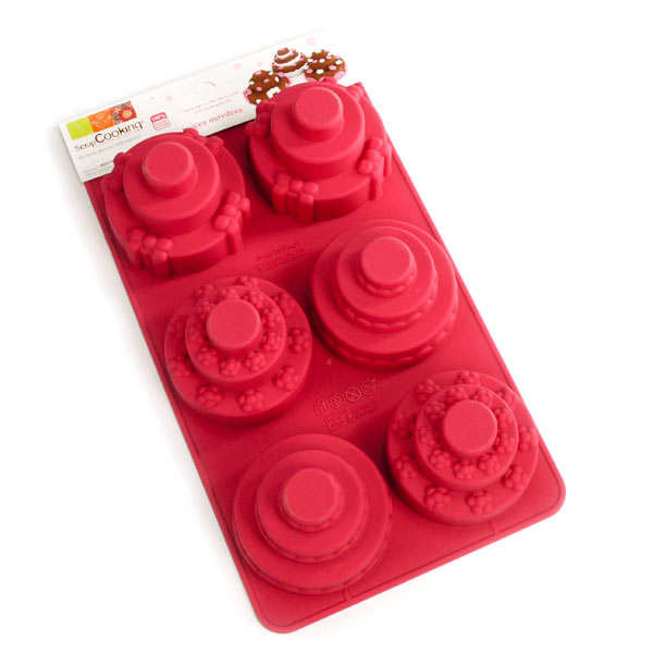 Silicone mini tiered cakes mould