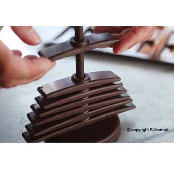Silikomart - Moule silicone Sapin en 3D - EasyChoc