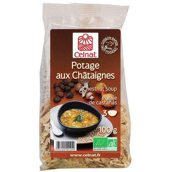 Soupe d shydrat e aux ch taignes bio celnat - Cuisiner chataignes fraiches ...