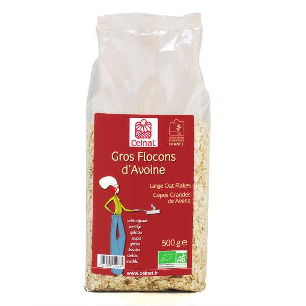 Organic large oat flakes