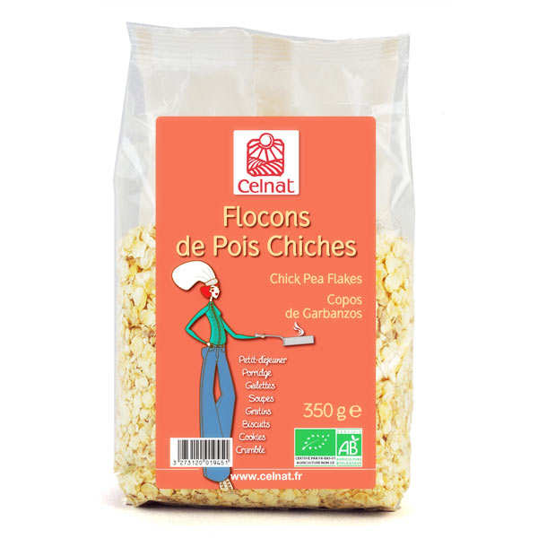 Organic chickpea flakes