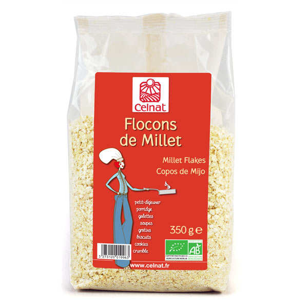 Flocons de millet bio