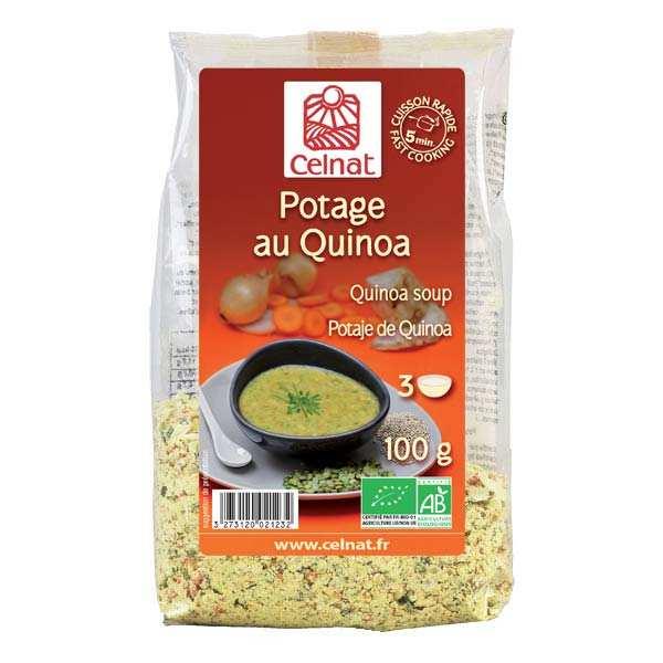 Soupe déshydratée au quinoa bio