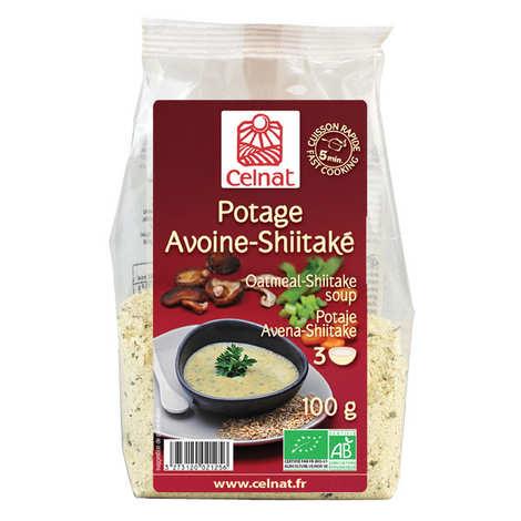 Celnat - Soupe déshydratée avoine-shiitaké Bio