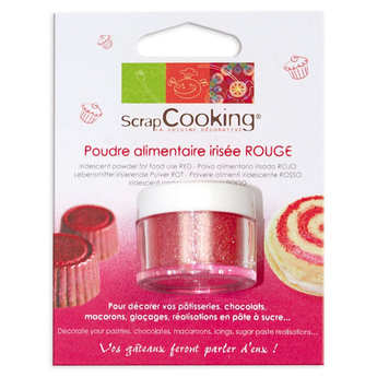 ScrapCooking ® - Poudre alimentaire irisée rouge