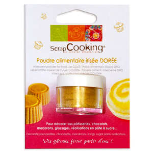 ScrapCooking ® - Sparkling gold food decoration powder