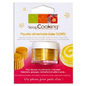 ScrapCooking ® - Poudre alimentaire irisée dorée