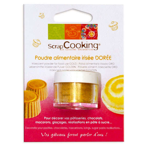 Sparkling gold food decoration powder
