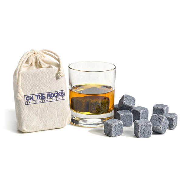 Pierre à whisky en granit bleu de Bretagne