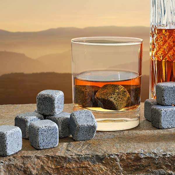 Blue Granite Whisky Ice Cubes from Brittany