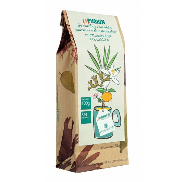 Organic rooibos, orange blossom & marine algae herbal tea